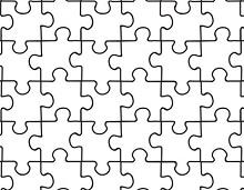 Puzzle piece template 09