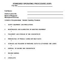 procedures document template