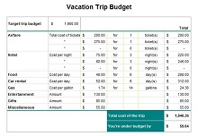 Travel budget template 06