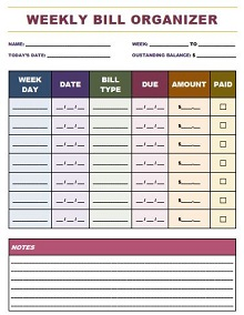 Bill Pay Checklist 42