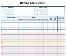 bowling templates