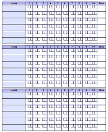 bowling score card template