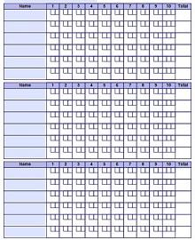 bowling score card template