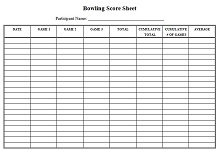 bowling score sheet printable