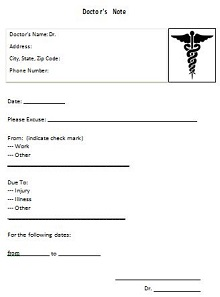 free printable dr note for work