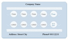 Editable punch card template