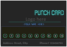 free customer loyalty punch cards templates