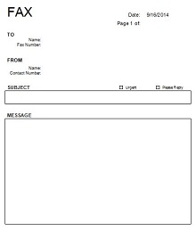 fax cover page, Simple Fax Cover Sheet Free Download