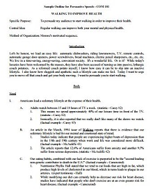 mla format outline template