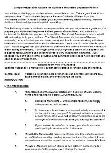 how to do a speech outline