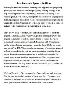 demonstrative speech outline template