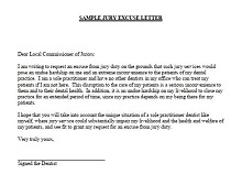 Jury duty excuse letter template 35