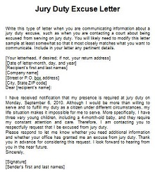 Jury duty excuse letter template 38