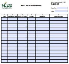 printable petty cash log