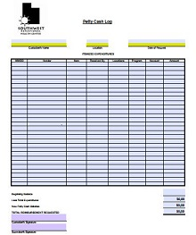 Petty Cash Log 20