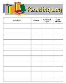 Printable Reading Log