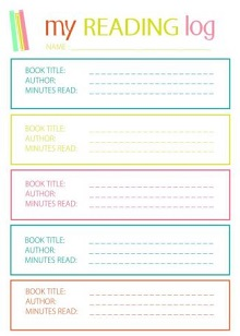 Printable reading log template
