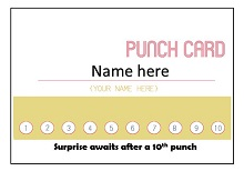 promotional punch cards
