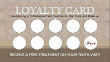 reward punch card template