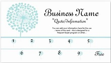 punch card template word