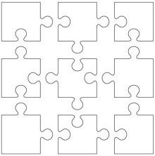 Puzzle Piece Template 12