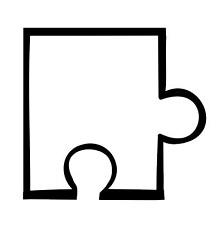 Puzzle Piece Template 16