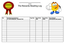 Rewards Reading Log Template