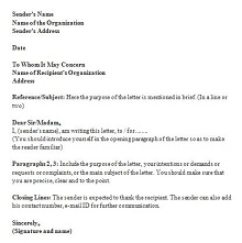to whom it may concern cover letter