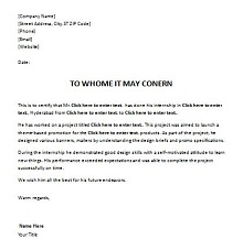 letter to whom it may concern template