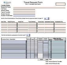corporate travel request form, domestic travel request form
