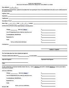 travel forms template