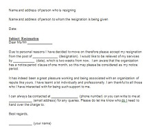 Resignation Letter For Part Time Job from excelshe.com