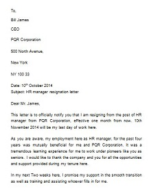 Two weeks notice letter 10