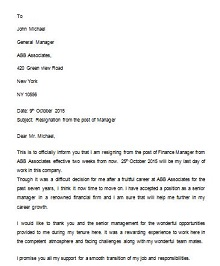 Two weeks notice letter 12