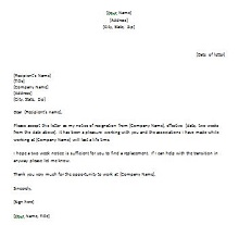 Two weeks notice letter 13