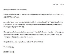 Two weeks notice letter 14