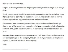 2 week resignation letter examples