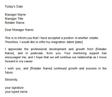 Two weeks notice letter 19