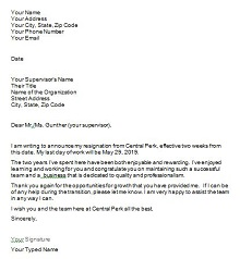 Two weeks notice letter 20