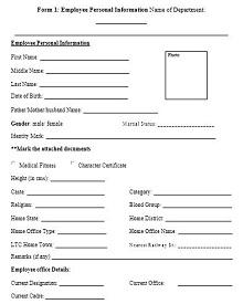 Employee Personal Information Sheet