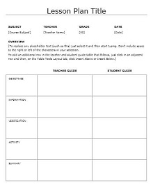 unit planner template for teachers
