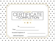 certificate of compliance template