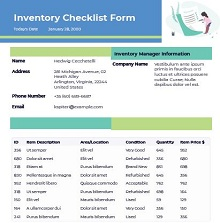 inventory form