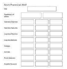 program logic model template word