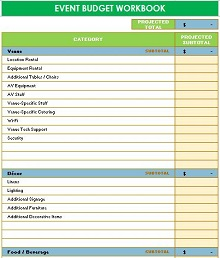 non profit budget worksheet download