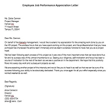 employee recognition letter example