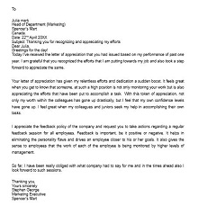 sample letter of commendation for employee