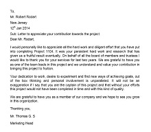 employee recognition letter sample