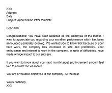 employee recognition letter templates