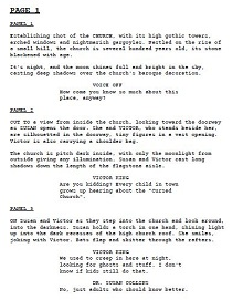 Screenplay Template free download